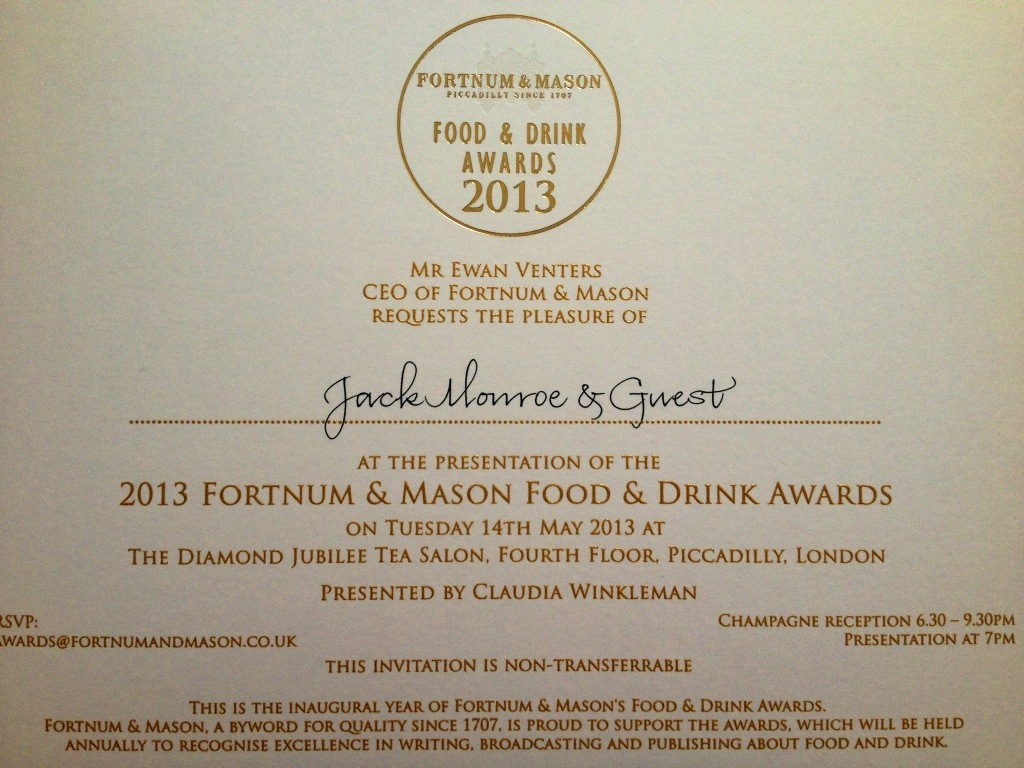 Claudia Winkleman presents Fortnum & Mason Food and Drink Awards