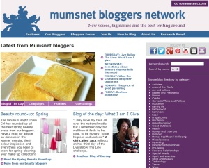 What i am i give, mumsnet bloggers network, 2 may